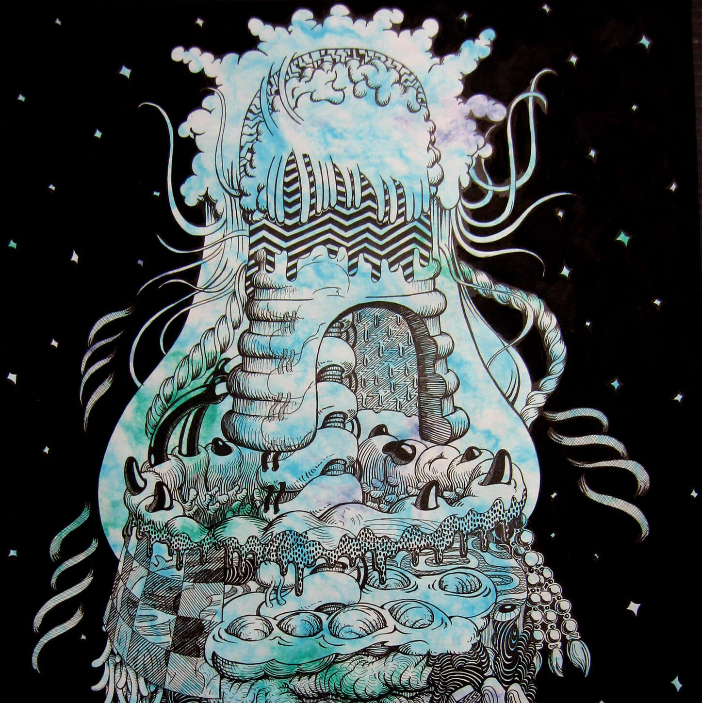 Shining Star L | Ink on color paper 420×297(mm) 2009