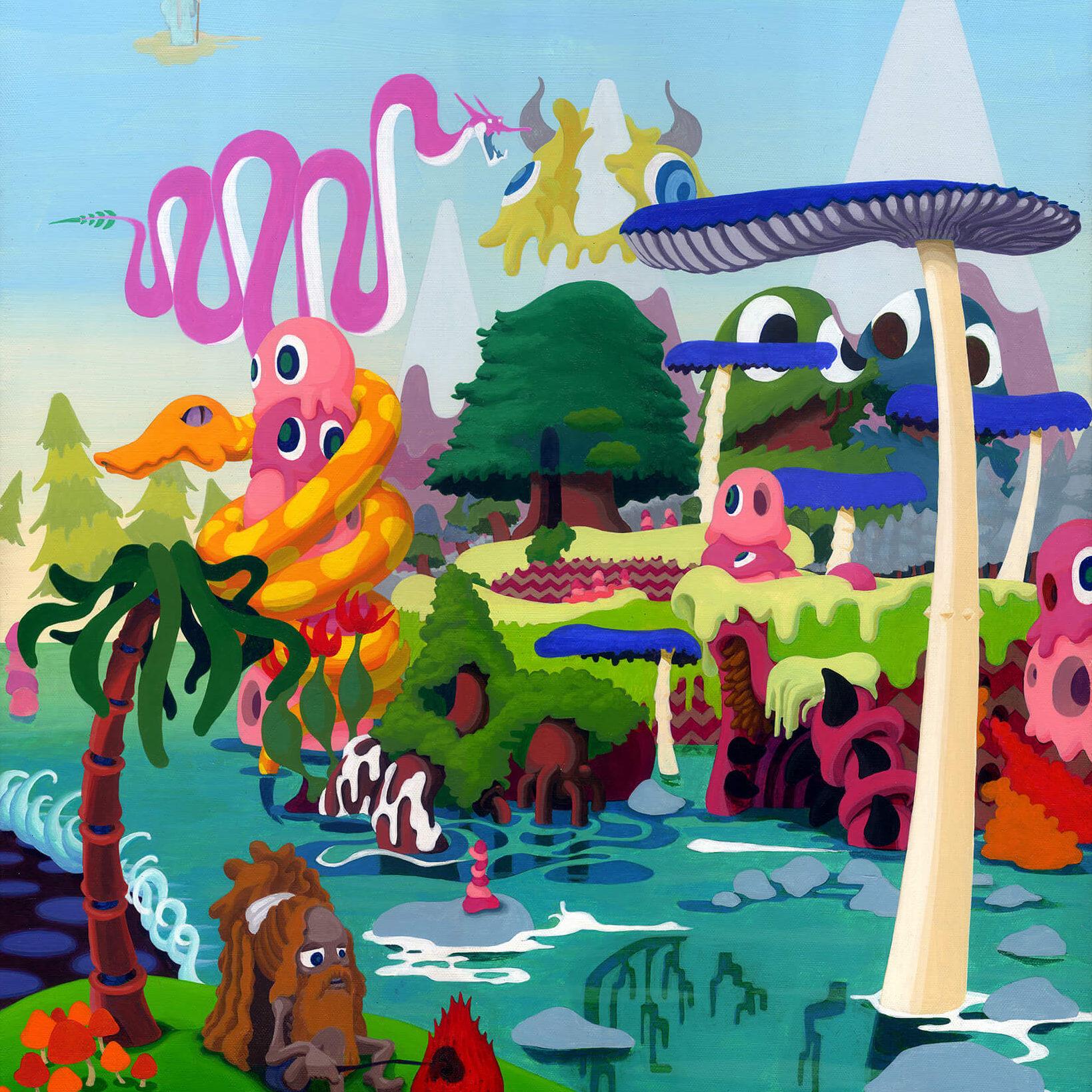 3-2 | Acrylic on canvas 530×455 (mm) 2004