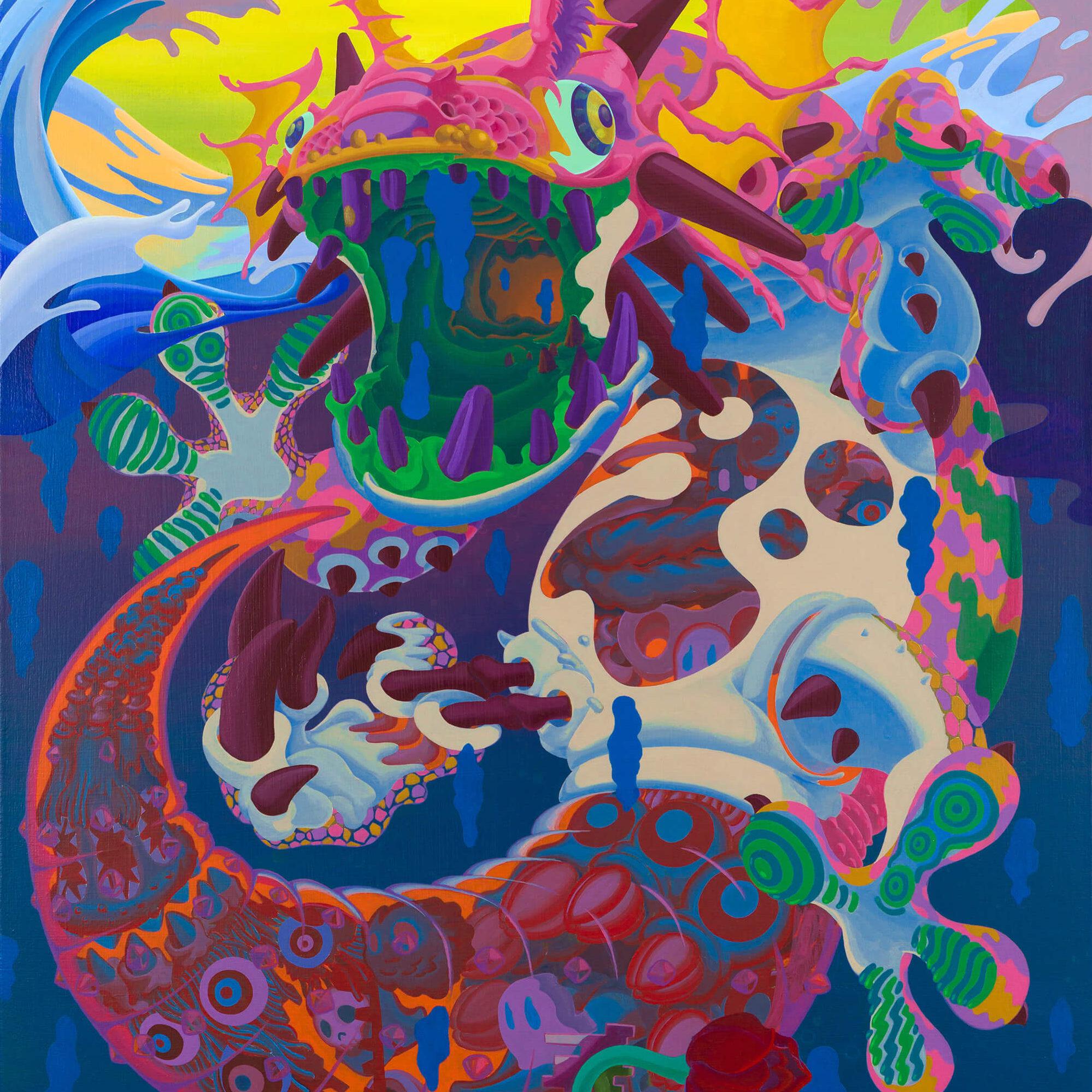 星の家守 -King Gecko- | Acrylic on canvas 1000×803 (mm) 2020
