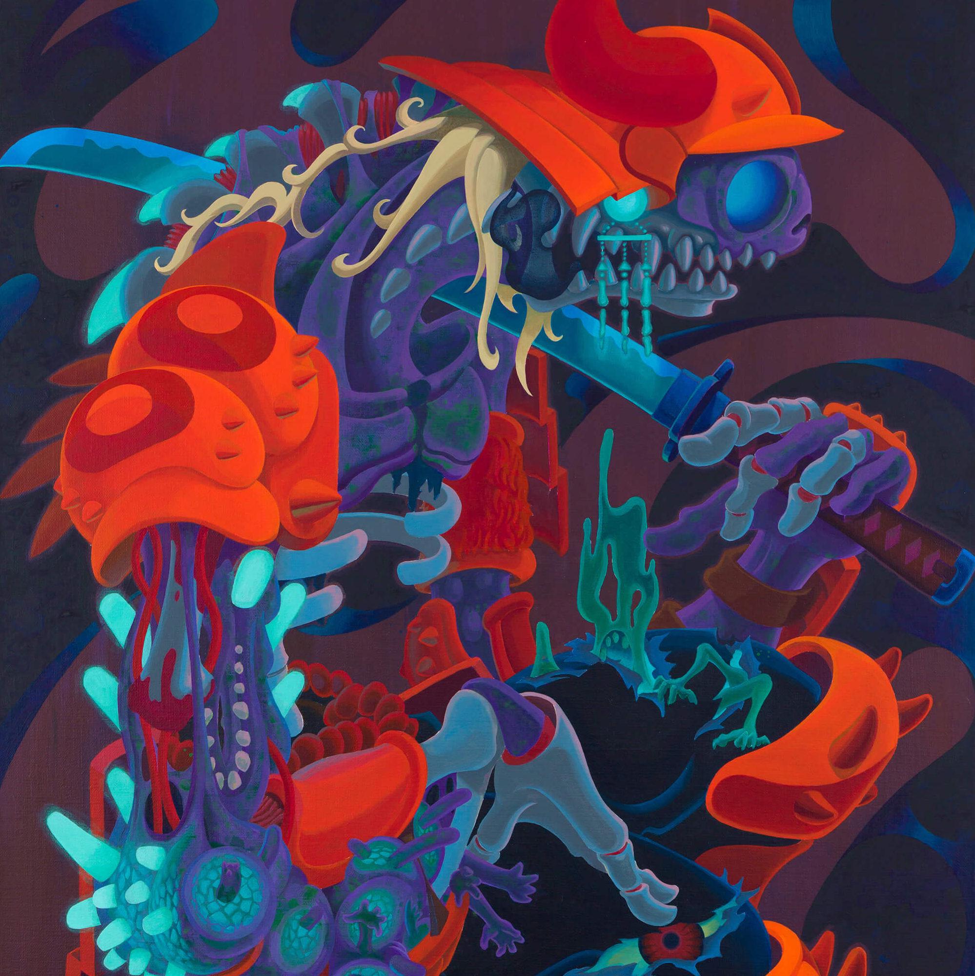 彷徨う鎧 -Rambling Army- |  Acrylic on canvas 910×652 (mm) 2020