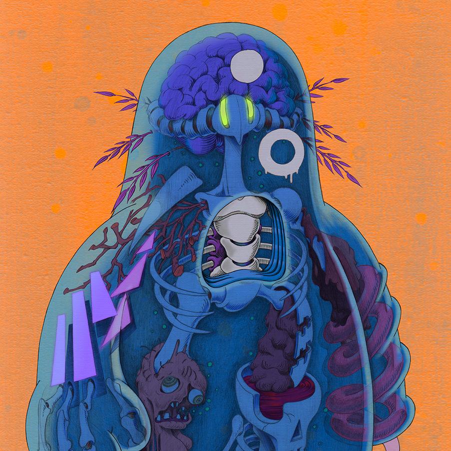 ゼリーマン -Jelly Man- | Digital Paint 2020