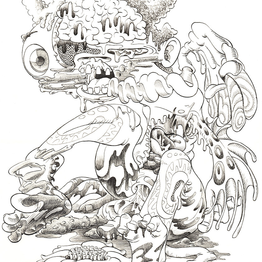 Ink and pencil on paper 2020